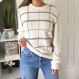 Oscar De La Renta Cream Knit Sweater